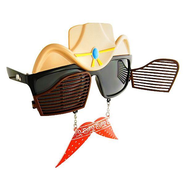 Cowboy Bandana Sun-Stache Sunglasses