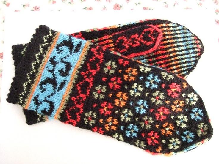 Anne Abrahamsen Knit - flotte hjemmestrikkede vanter