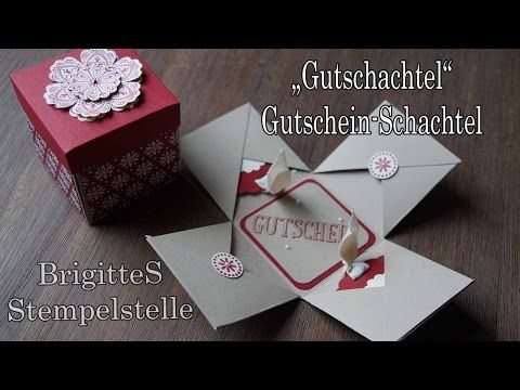 gutschein schachtel youtube stampin up basteln. Black Bedroom Furniture Sets. Home Design Ideas