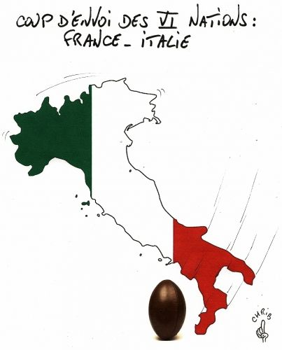rugby, tournoi des VI nations, italie, ballon ovale, chrib, france