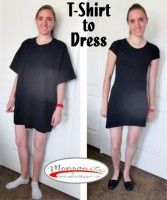 T-Shirt Dress Tutorial! Take an oversize tee and turn into a cute dress!