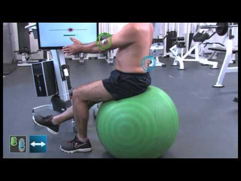 RM.Feedback Sensors - Lumbar spine: Proprioception of the trunk sitting on a ball - YouTube
