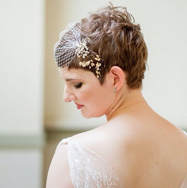 pixie hair wedding styles 31 brides who absolutely rocked hair on their 3499