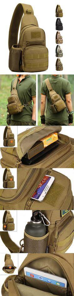 $15.49 Men's Tactical Shoulder Bag, Backpack, Sling Chest Bag, Assault Pack ,Messenger Bag