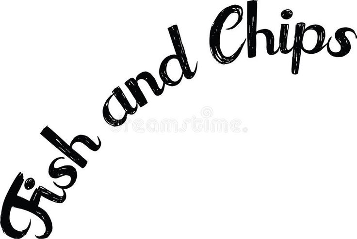 Download Fish and Chips text stock vector. Illustration of french - 92889633