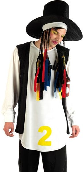 Mens 80's Pop Star Boy George Fancy Dress Costume FUN2395 #Fancydress for all the family #CheapCostumes for any occasion