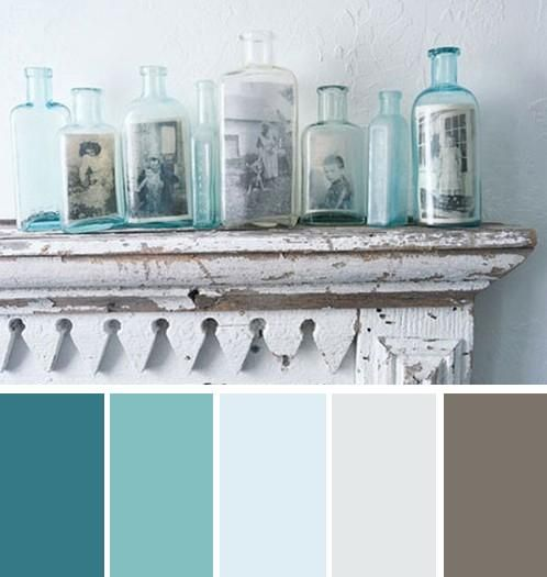love that teal color second from the left... might be a possible bedroom color