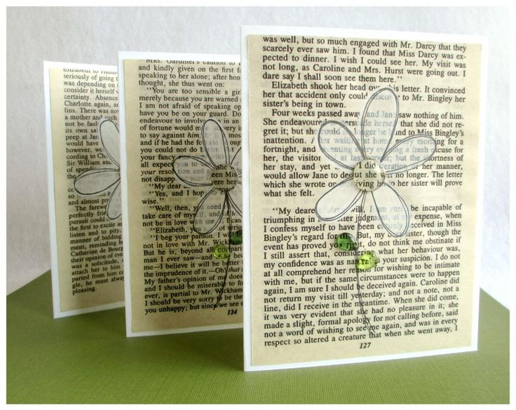 Card made with the  old book pages. www.epiphanycrafts.com #robinsnest #card #spring