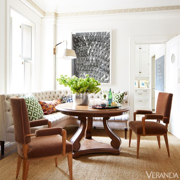 House tour a manhattan apartment is infused with european for European breakfast nook