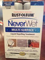 To keep the DIY Herb Garden Box from an old toolbox from ruining with water .... I drilled the holes I applied the two-step Rust-Oleum Never Wet Liquid Repelling Treatment. This stuff seals the wood and turns water into tiny beads so they don't penetrate the wood. It's not cheap, but it could save your entire project from falling victim to water damage.