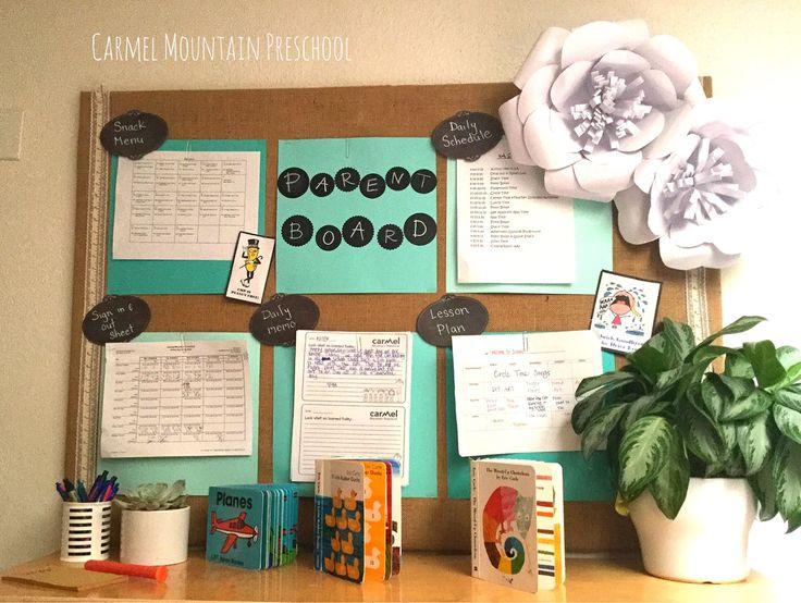 Montessori Classroom Design Pictures ~ Burlap parent board carmel mountain preschool facility