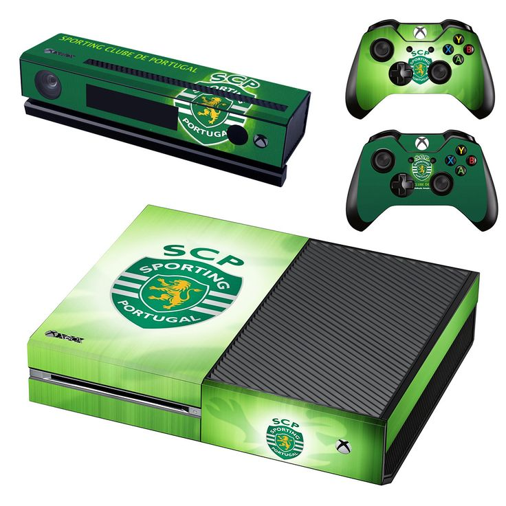Sporting Clube de Portugal xbox one skin decal for console and 2 controllers