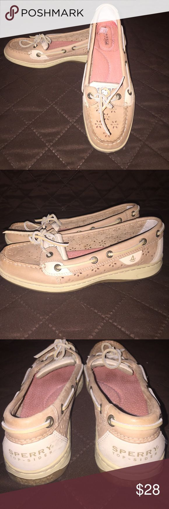 Pre-owned Women's Sperry shoes Tan/cream women's Sperry Top-Spider shoes Sperry Top-Sider Shoes Flats & Loafers