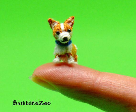 Miniature Corgi dog. Mini amigurumi tiny Corgi dog by BambinoZoo
