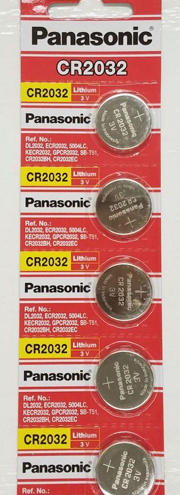 **FRESHLY NEW** 5x Panasonic CR2032 Lithium Battery 3V Coin Cell Exp 2024 #Panasonic
