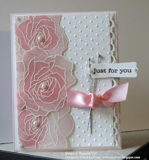 http://elefevre.blogspot.com/: Card Idea, Polka Dots, Pinterest Challenges, Beauty Card, Avenu Floral, Contagi Disea, Eileen Stampin, Manhattan Flower, Challenges Card