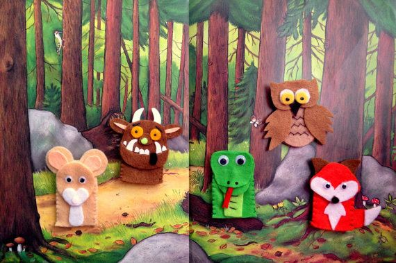 A mouse took a stroll through the deep dark wood...    This puppet set is a lovely accompaniment to the wonderful childrens tale of The