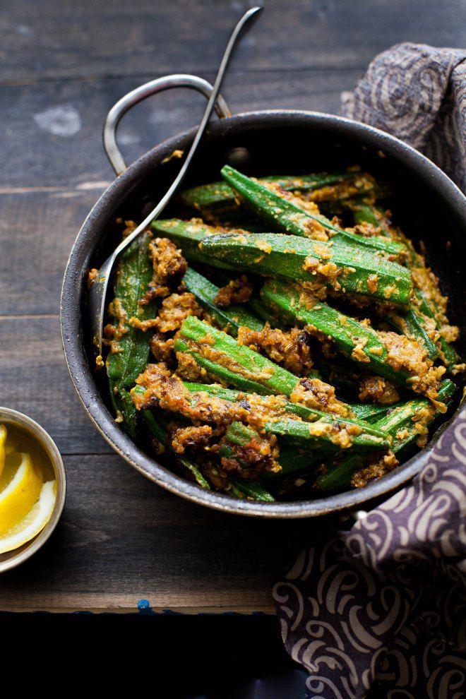 BHARWAN BHINDI (stuffed spicy okra) [India] [sinfullyspicy]