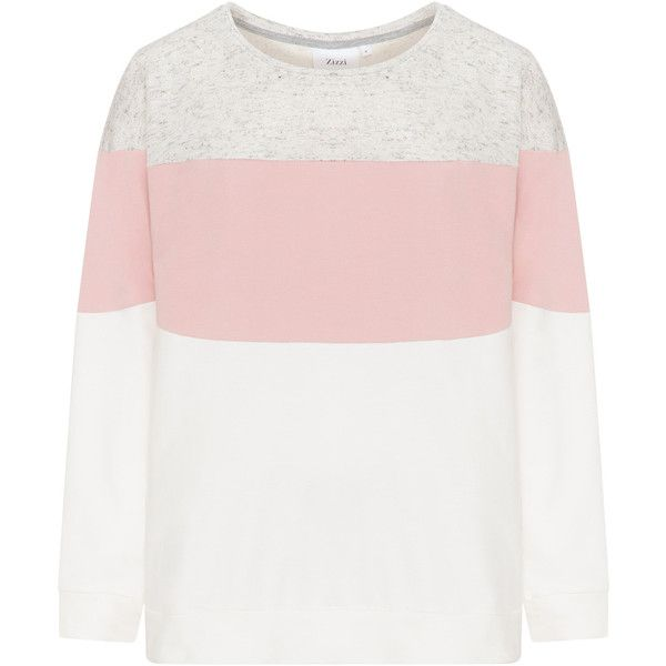 Zizzi Pink / Grey Plus Size Colour panelled sweatshirt (€43) ❤ liked on Polyvore featuring tops, hoodies, sweatshirts, pink, plus size, plus size long sleeve tops, long sleeve sweatshirts, womens plus tops, plus size tops and grey sweatshirt
