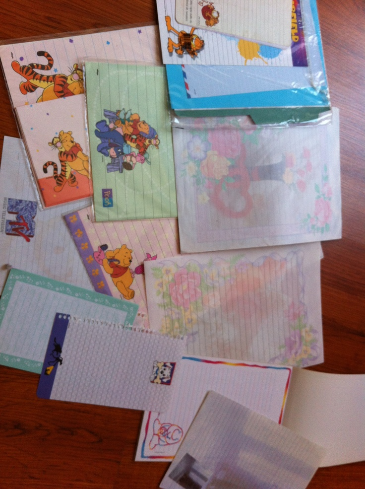 Just some of my letter papers.