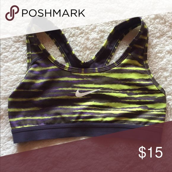 dd5388a93b998 Nike Women's Pro Swoosh Sports Bra Lightly used Purple and highlighter  yellow Nike Intimates & Sleepwear Bras | My Posh Picks in 2019 | Fashion,  Nike women, ...