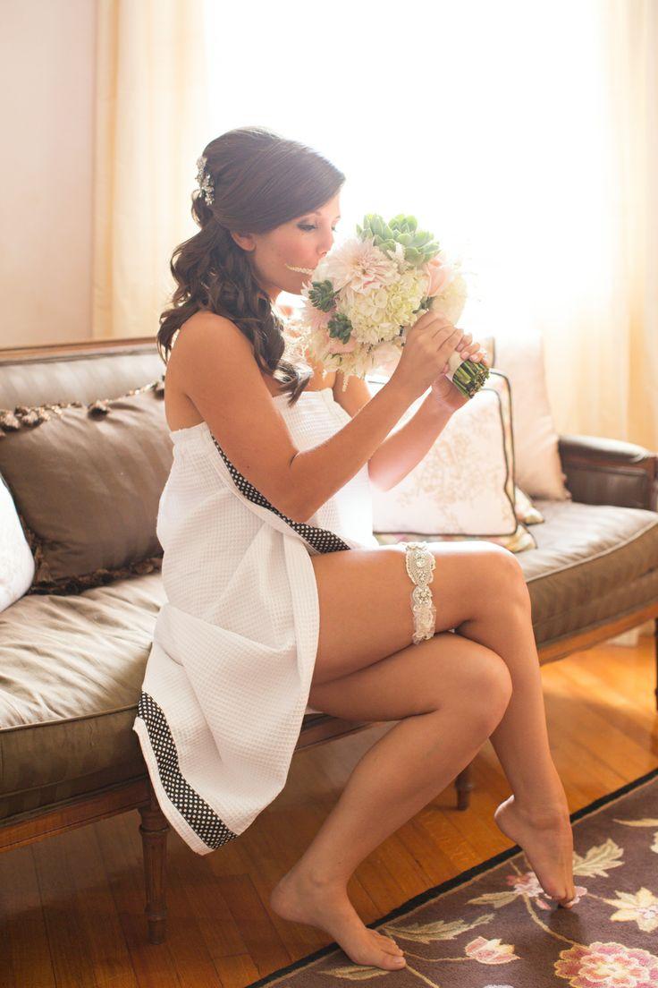 La Gartier Bride Lynn Lilly Wearing Her Custom Vienna Garter
