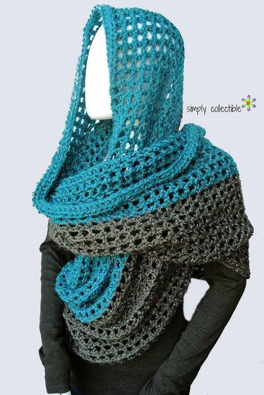 Coraline in Minden Oversized Cowl Wrap Free Crochet Pattern | via Crochetrendy