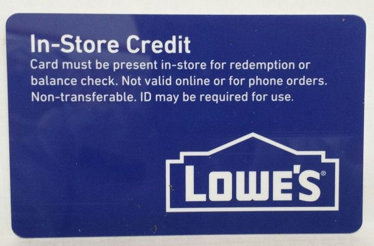 Coupons #GiftCards Lowes In Store Credit Gift Card $176.95 Fast ...