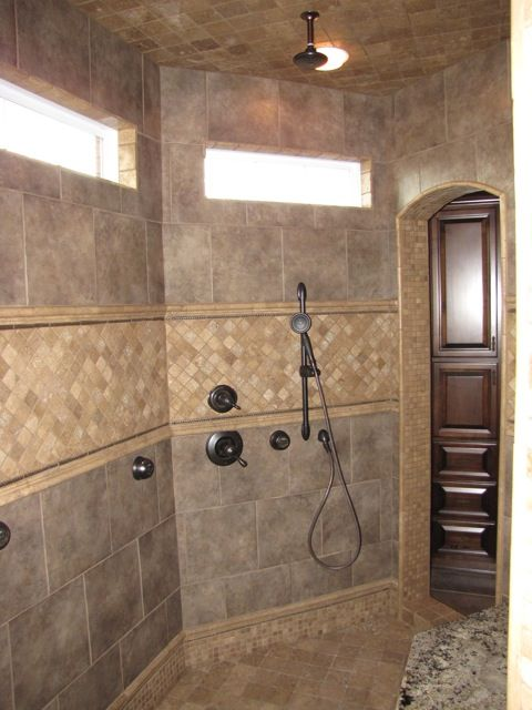 Doorless Shower Walk In Shower Yes Bathroom Shower