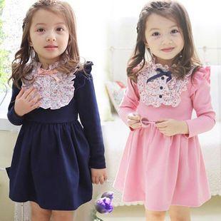 Ucuz Elbiseler Doğrudan Çin Kaynaklarında Satın Alın: Arkadaşım, Mağazamıza hoşgeldiniz!avrupa ve amerikan tarzı güzel çocuk sonbahar elbise sevimli pembe uzun kollu dantel çiçek boyun elbise kızlar için doğum günü hediyesiBoyutu yaş 2/4/5/6/7yaş kızlar-