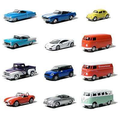 miniatur berbagai jenis mobil