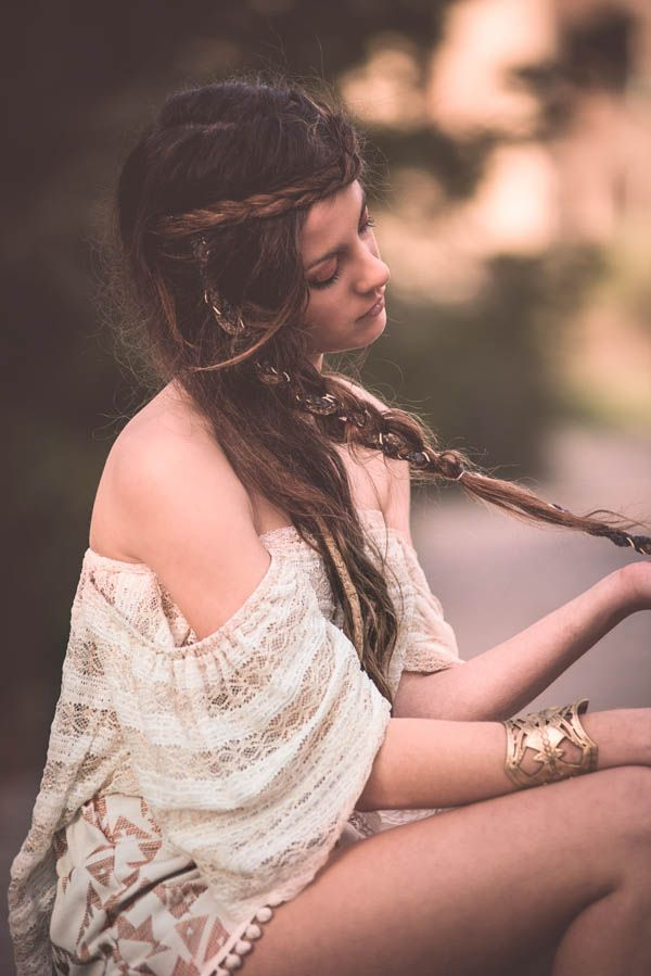"""Helen of Troy"" top by Nidodileda #nidodileda #bohemian #braids"