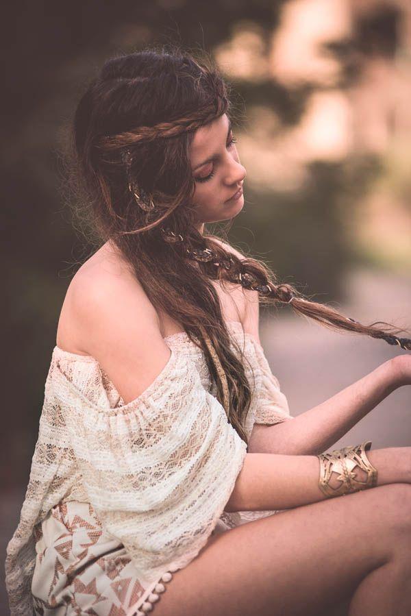 """Helen of Troy"" top by Nidodileda #nidodileda #bohemian #braids"