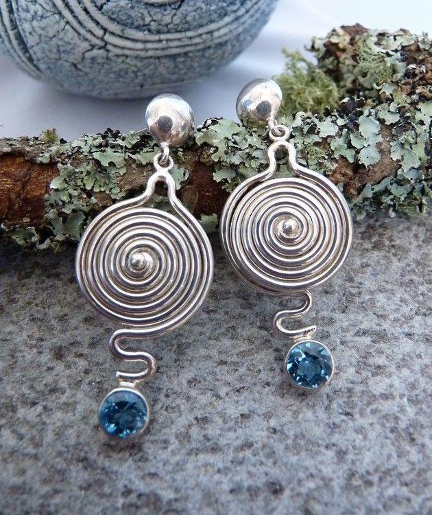 925 Silver Blue Topaz Earrings   Treat Yourself Today