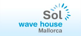 Logo Sol Wave House. The first Twitter experience Hotel./ El primer hotel Twitter Experience del mundo.