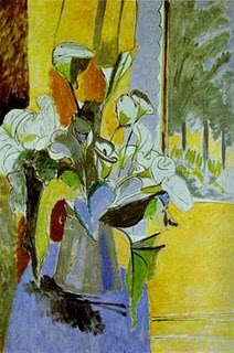 Bouquet of Flowers on the Veranda (1912-1913) HENRI MATISSE