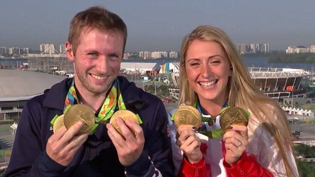 Laura Trott and Jason Kenny hit back at critics Team GB's cycling dominance.