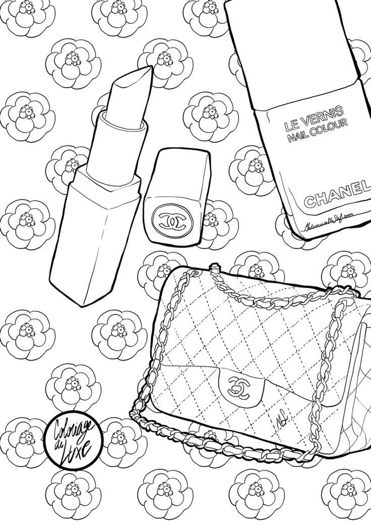 Mademoiselle Stef - Blog Mode, Dessin, Paris | Coloriage : Sac Chanel | http://www.mademoisellestef.com
