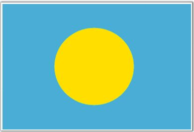 Palau Flag - Download Picture of Blank Palau Flag For Kids to Color