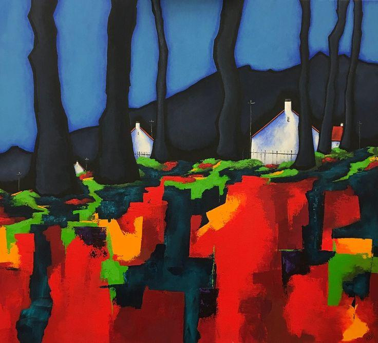 Autumn. Road to Dunmore. 90 x 100cm. Acrylic on Canvas. (C) BauenArt 2016