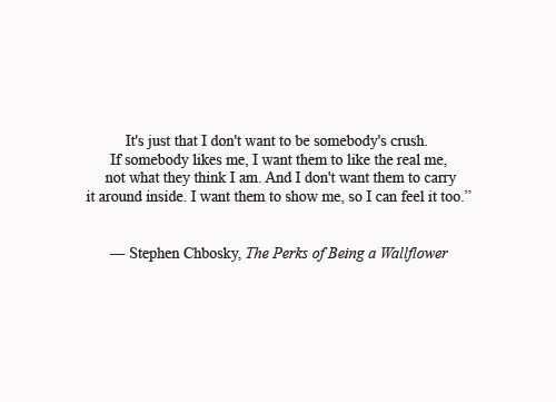 an analysis of a quote from the perks of being a wallflower by stephen chbosky Buy the perks of being a wallflower uk ed by stephen chbosky (isbn: 0000671027344) from amazon's book store everyday low prices and free delivery on.