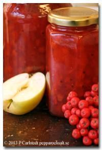 Rönnbärsmarmelad med äpple - Koka sylt