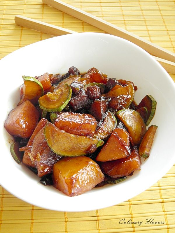 Pumpkin and Zucchini Stir fry.JPG | culinaryflavors.gr | - need to find an alternative to oyster sauce for this