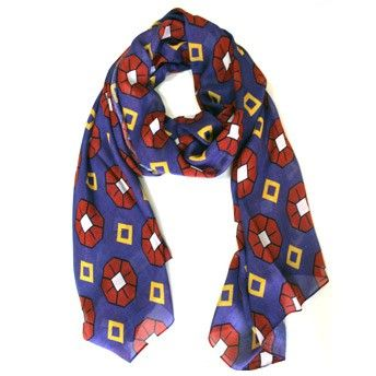 Sixties Scarf. Modal fabric. 100% Made in Italy