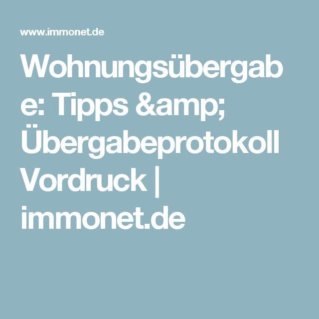 Wohnungsübergabe: Tipps & Übergabeprotokoll Vordruck | immonet.de
