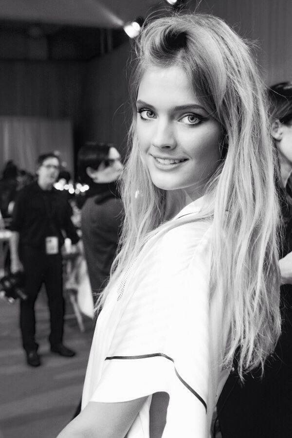 ~ Constance at the VS fashion show, backstage.