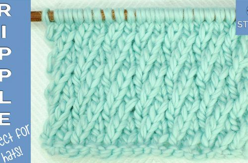 The Seeded Rib Stitch Pattern Creates Thick Textured Rows This
