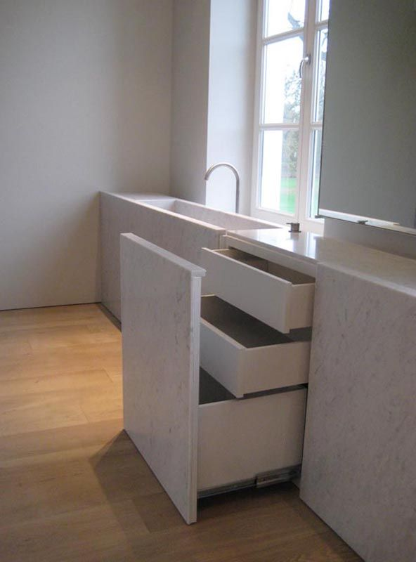 "Bianco Carrara c extra ""architect: Vincent Van Duysen"" – Graniet & marmer"