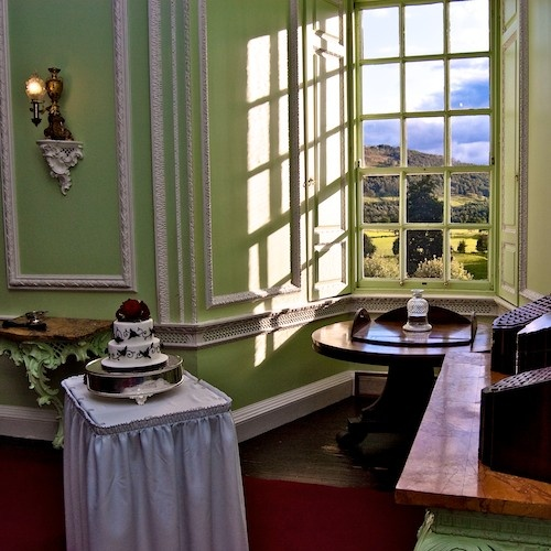 View from the State Dining Room at Blair Castle.