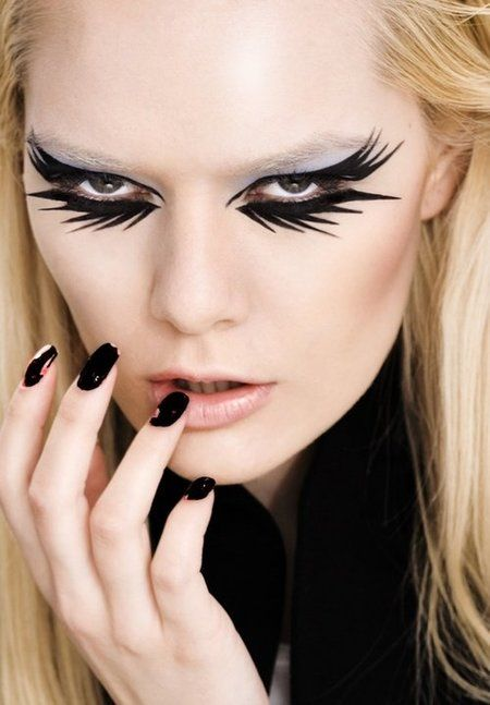 Mysterious - #eyemakeup #eyes #artistic #feathery #liner #eyeliner #makeup - bellashoot.com